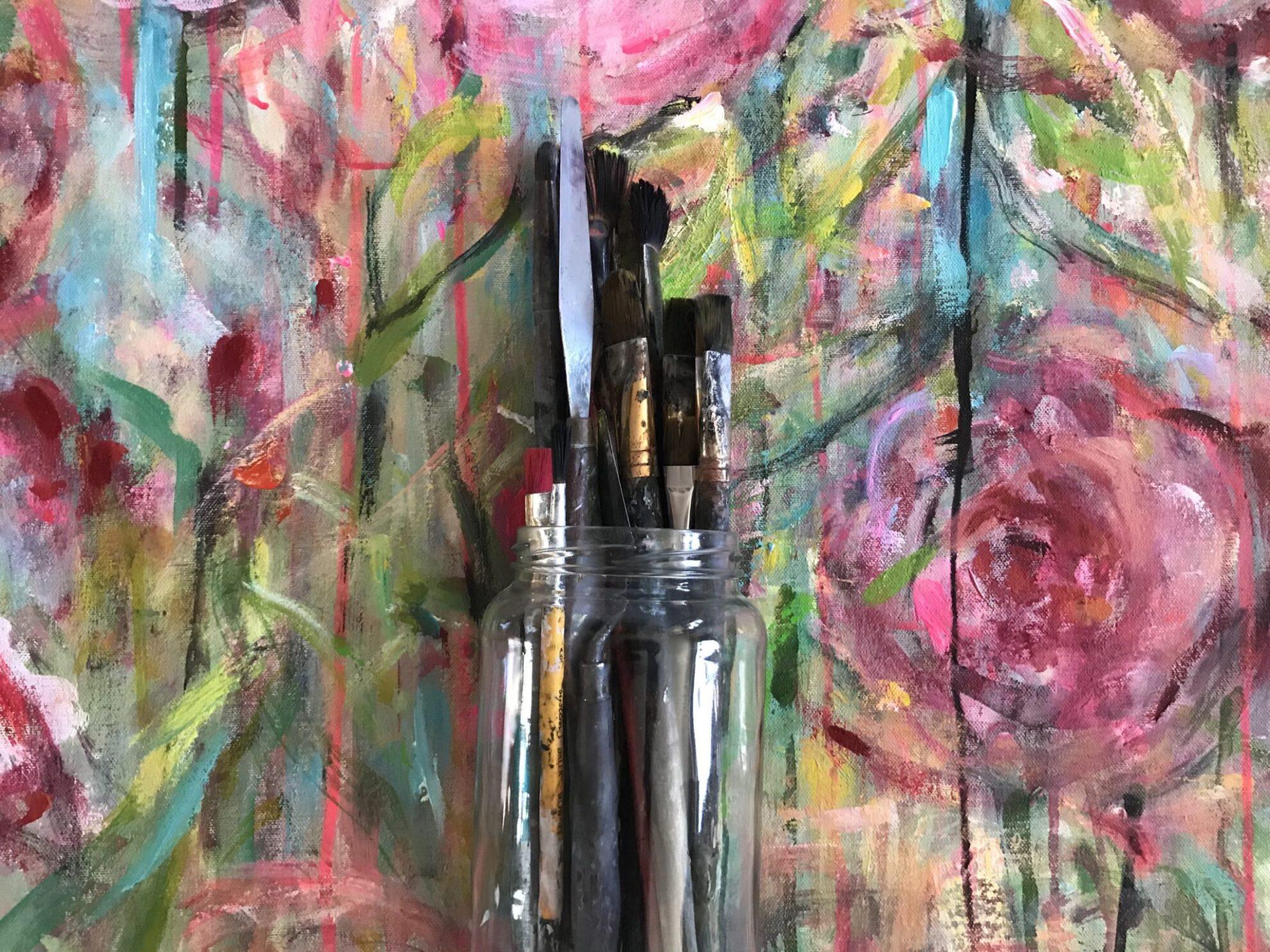 Webbkurs – Lär dig konsten att måla med akrylfärger – utan studiegrupp