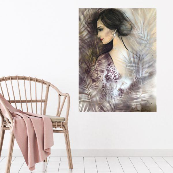 Oljemålning - Woman