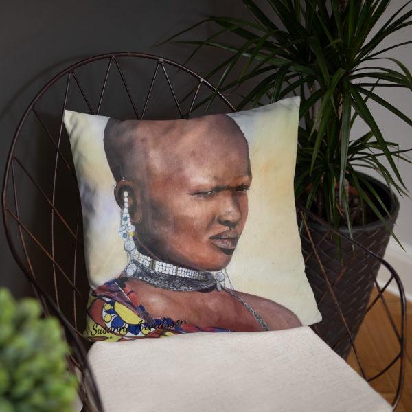 Kudde 45x45 cm Massaiwoman
