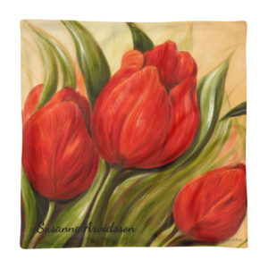 Kuddfodral 45×45 cm – Red Tulips