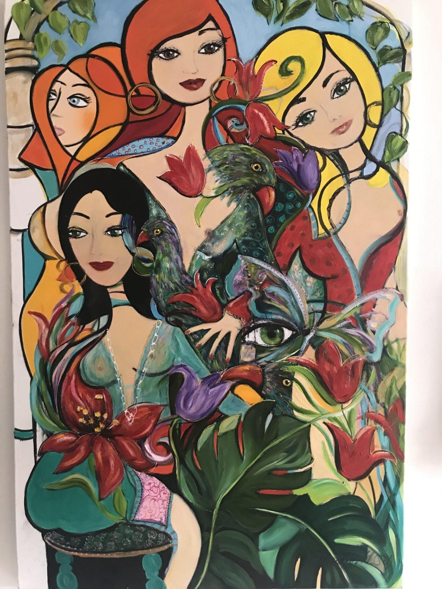 Oljemålning – Madame Butterfly