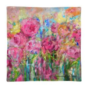 Kuddfodral – Pink Flower 45×45 cm