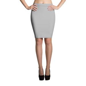 Ljusgrå kjol i pennmodell