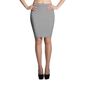 Mörkgrå kjol i pennmodell