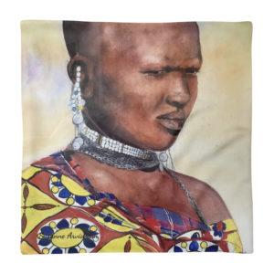 Kuddfodral – Massaiwoman 45×45 cm