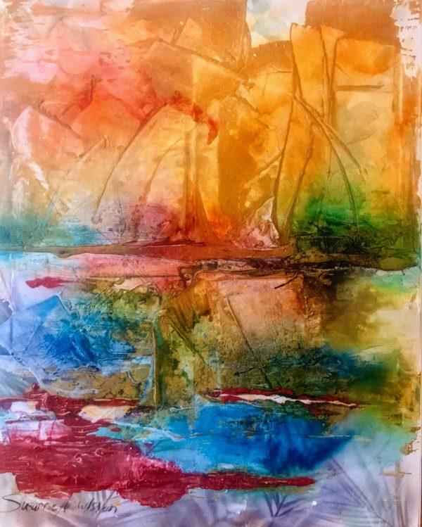 Oljemålning - I hamn