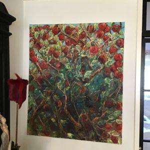 Oljemålning – Välkommen lilla Koltrast SÅLD