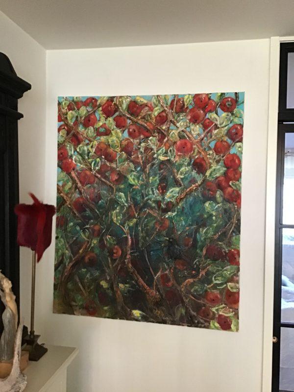 Oljemålning - Välkommen lilla Koltrast