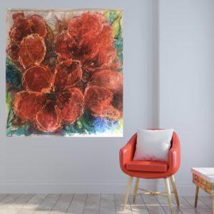 Konst till salu – Tulips in red SÅLD