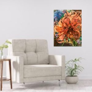 Konst till salu – Orange Tulips