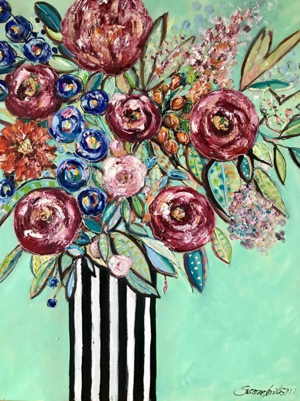 Stilleben - Blommor i vas