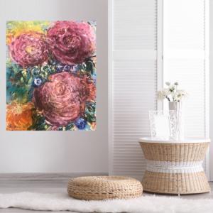 Konst till salu – Pink flowers