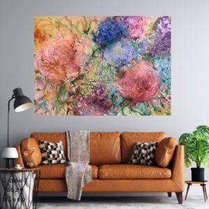 Akvarell – I denna ljuva blomstertid SÅLD