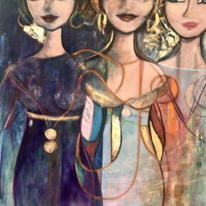 Oljemålning – Femme Elegance