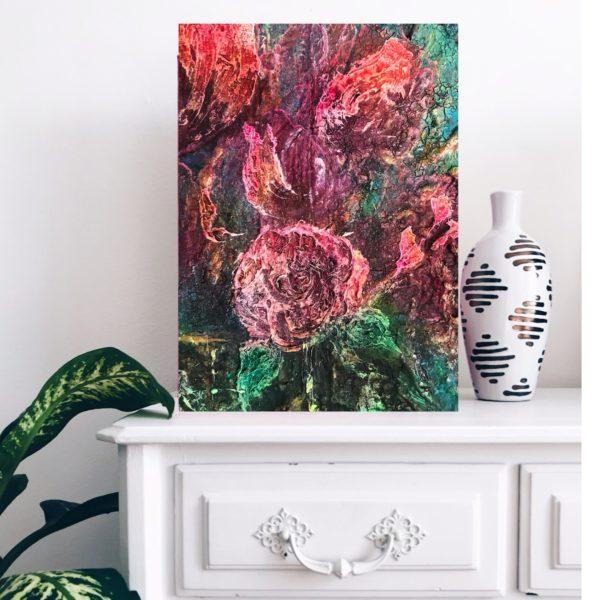 Oljemålning - Älskade Tulpan