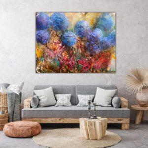 Köp stor tavla online – Hortensia SÅLD