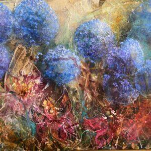 Köp stor tavla online – Hortensia
