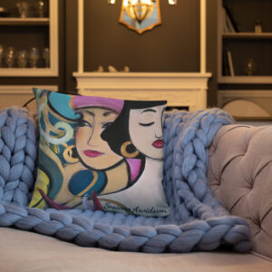 Kuddfodral linnestruktur – Love me 45 x 45 cm