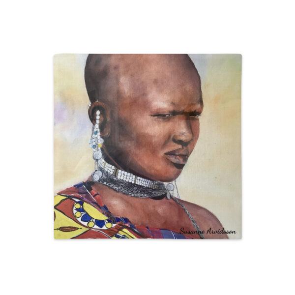 Kuddfodral linnestruktur - Massaiwoman
