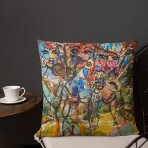 Kuddfodral linnestruktur – Jazz 45×45 cm