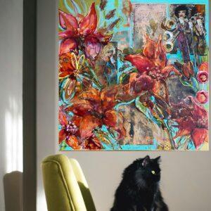 Köp Färgstark tavla – Copycat SÅLD