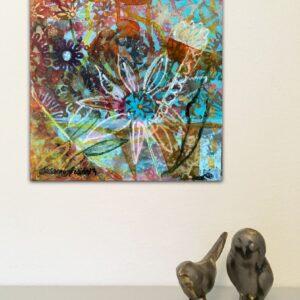 Konst på väggarna – Flower pattern