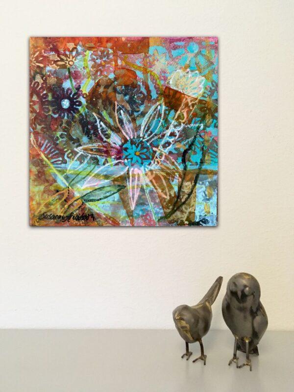 Konst på väggarna - Flower pattern