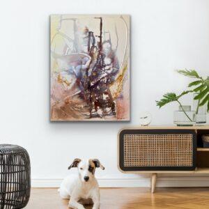 Köp stor abstrakt tavla – Frozen