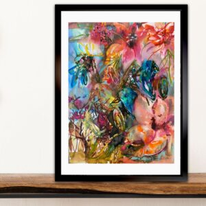 Köp Akvarellmålning – Birds song
