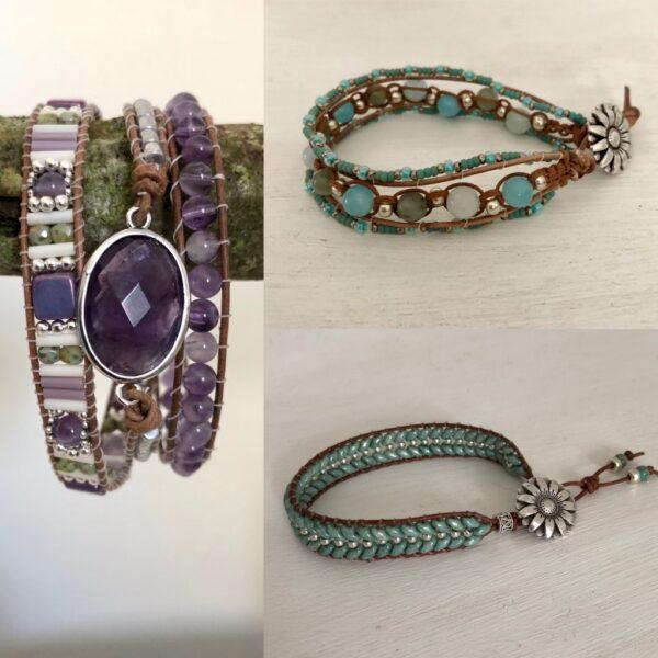 Lektion 3 – Lär dig göra armband med halvädelstenar och glaspärlor