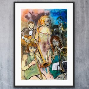 Konsttryck  – Coffe Table Jazzclub