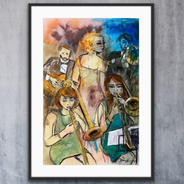 Konsttryck - Coffe Table Jazzclub