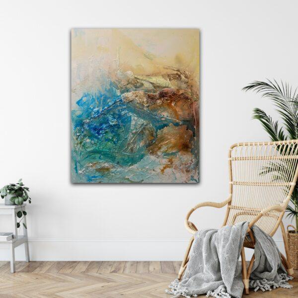 Stor abstrakt modern målning