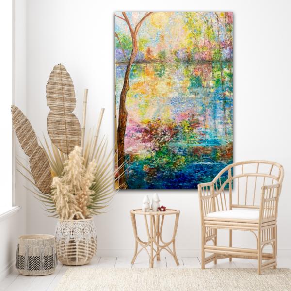 Stor målning i Pointillism